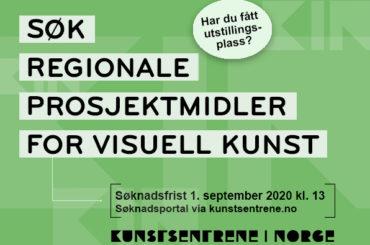 Søk Regionale prosjektmidler for visuell kunst 2020